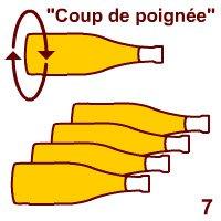 Champagne wine: Prise de mousse.