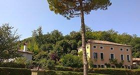 Ballotta, Galileo's Trattoria: Euganean Hills, panorama.
