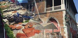'Pescheria': the Venetian fish market.