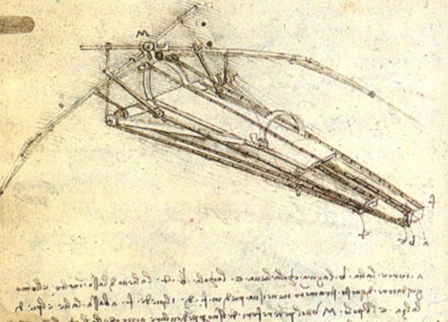 Leonardo da Vinci and wine: Leonardo, flying machine, 1488 ca. (img-02)