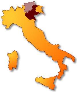 Asiago PDO cheese production areas.