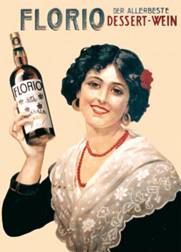 Vino Marsala: Immagine pubblicitaria Marsala Florio (crt-01)