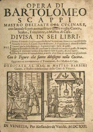 Opera di Bartolomeo Scappi, Mastro dell'Arte del Cucinare, 1570 (img-01)