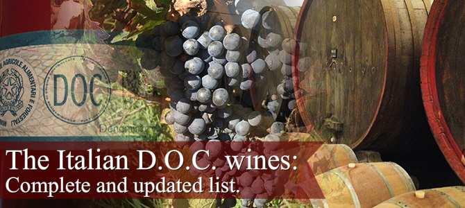 The Italian DOC wines.