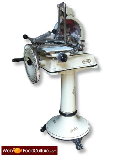 Flywheel slicer by Berkel.