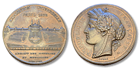 Coin celebrating the International Exhibitions of Paris, 1878 (crt-02)