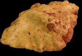 Neapolitan fried pizza.