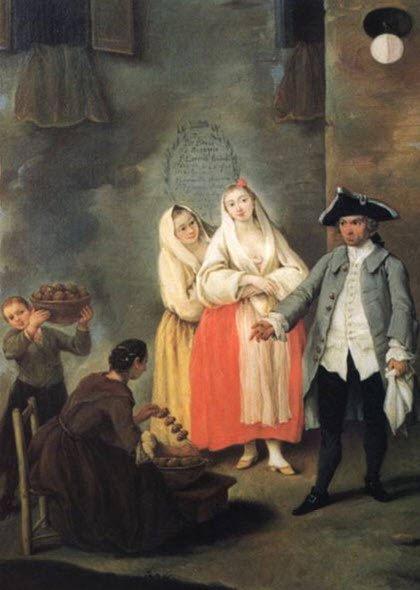 Venetian Frittelle: 'The Frittelle vendor.' (img-03)