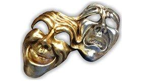 Venetian Frittelle: Venetian masks.