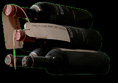 Brunello di Montalcino: antiche bottiglie di Brunello (crt-02)